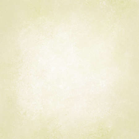 background cover: pastel yellow paper background, white or pale gold beige neutral color design, vintage grunge texture Stock Photo