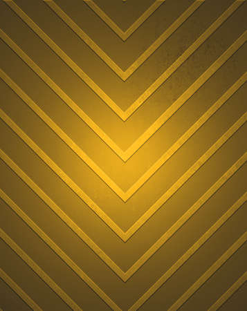 abstract brown gold background chevron stripe pattern design, angled lines with vintage texture and black vignette border photo