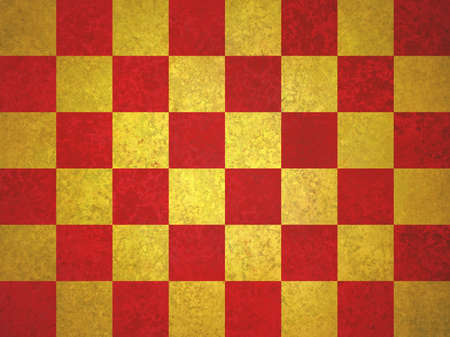 checkerboard: vintage gold and red checkerboard pattern background, elegant red and gold color tone, block background design Stock Photo