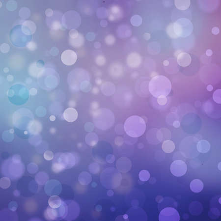 Beautiful purple blue bokeh background with shimmering colors and white lights Festive party background. Fantasy night or magical glitter background sparkles photo