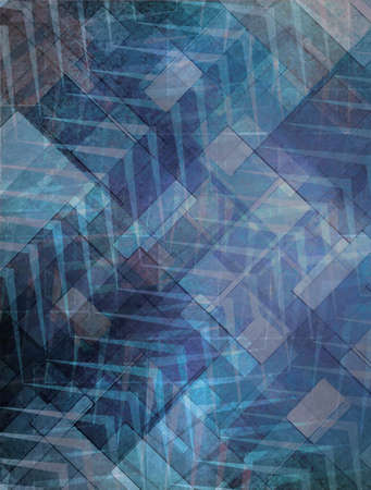abstract blue and black faded pattern background design with texture and faint zigzag stripes photo
