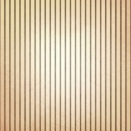 faded vintage brown and beige striped background, shabby chic line design element on distressed texture photo