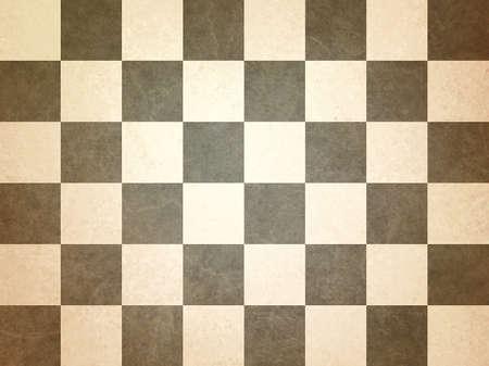 Braunen Und Weißen Schachbrettmuster Hintergrund Vergilbte Beige