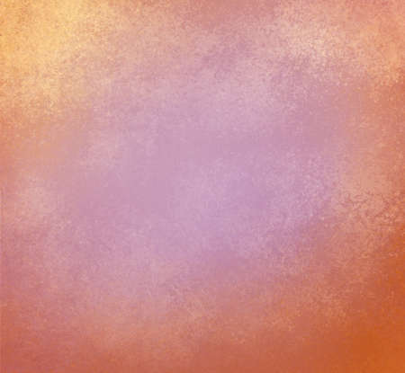 gold textured background: faded pink orange and gold background with vintage textured paint Stock Photo