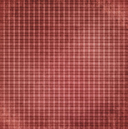 faded vintage red checker background, striped shabby chic line design element on distressed texture, red plaid Christmas background photo