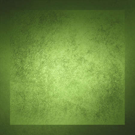 Abstract green background frame with vintage grunge texture, old green paper