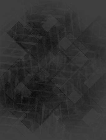 black background with gray abstract pattern design Stock Photo