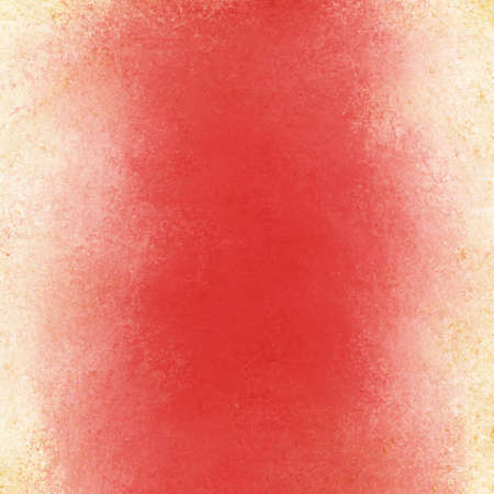 abstract red background with white border and vintage grunge background texture layout, old painted wall photo