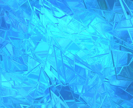 abstract danger: abstract blue background shattered glass on bright beautiful background, texture has sharp jagged pieces of broken glass illustration