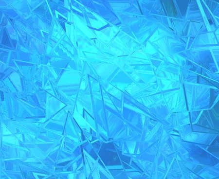 Abstraite fond bleu verre brisé sur lumineux beau fond, la texture a morceaux déchiquetés de vives cassée illustration de verre Banque d'images - 35834888