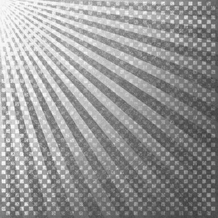 fine print: abstract black and white sunburst or starburst background in angled stripes and fine macro block texture, monochrome print in grayscale, vintage nostalgic background style