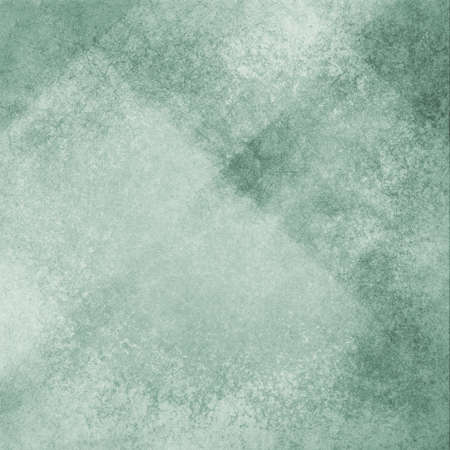 dull faded green background with white angled blocks and stripes in abstract pattern with vintage scratch texture design and faint detailed brush strokes