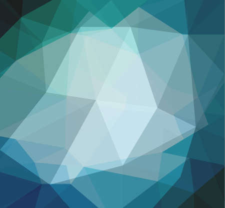 facet: blue low poly background with diamond facet or crystals texture concept