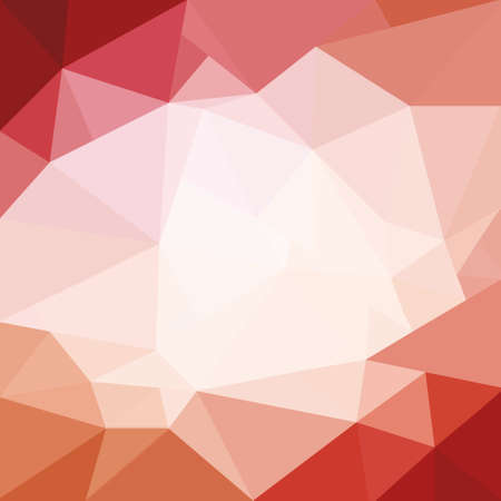 facets: trendy pink red and white low poly background design, triangle shapes in mosaic pattern of diamond facets Stock Photo