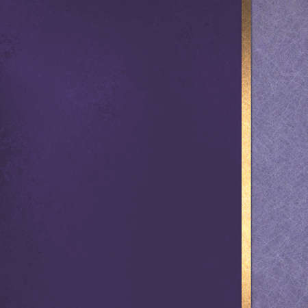 sidebar: purple gold background layout design with vintage texture, gold ribbon, and sidebar Stock Photo