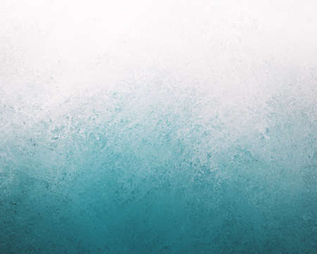 blue white background, bright sky blue bottom border and cloudy white top border layout, blended blue and white paint with old smeared and detailed texture