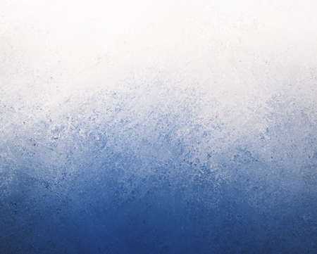 blue white background, dark blue bottom border and cloudy white top border layout, blended blue and white paint with old smeared and detailed texture Stock Photo