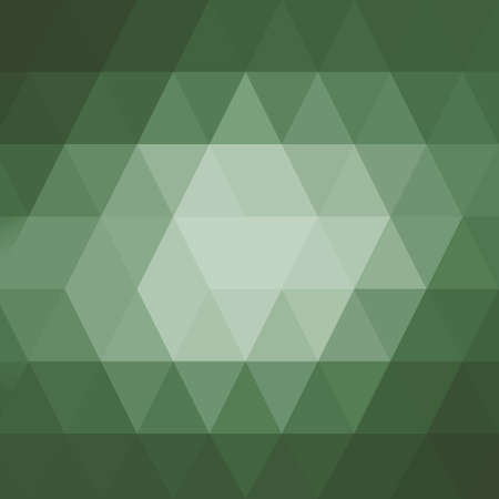 crystal background: abstract green low poly background with orange brown border, triangle shapes in mosaic pattern of diamonds in diagonal striped rows, graphic art background
