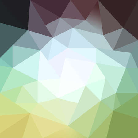 facets: trendy blue green yellow purple and gray low poly background design, triangle shapes in mosaic pattern of diamond facets Stock Photo