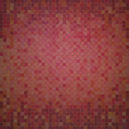 checkerboard: abstract red pixel background with faint detailed checkerboard pattern of small squares in graphic design element, faded and distressed vintage texture