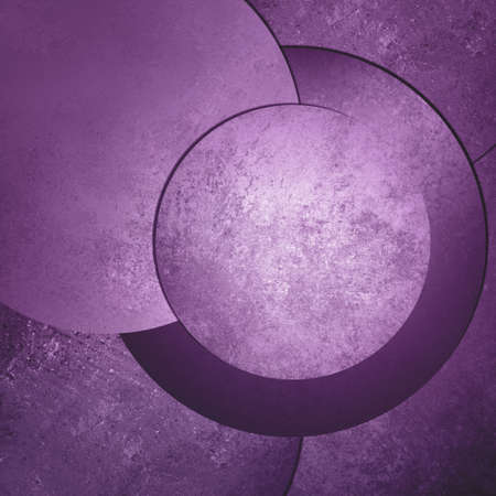 product display: purple background abstract art design, modern style with vintage background texture, circle button or blank round layout with text room for web design background, product display