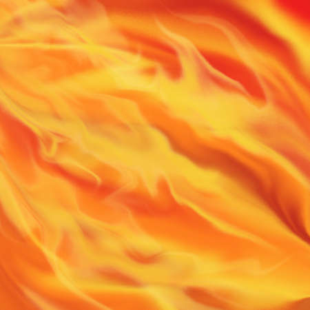 smeary: liquid fire and fiery flames background illustration in dark hot red, orange, and yellow shades of color with smeary texture, burning fire background