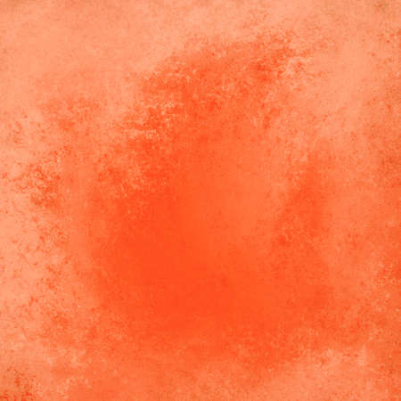 sponged: faded bright orange background, vintage color and sponged distressed texture in soft blended brush strokes with dark center and light border
