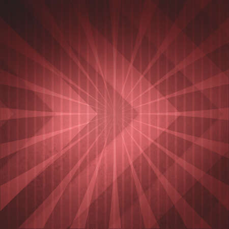 pinstripes: red marsala background with double exposure design elements of retro starburst pinstripes and thick chevron pattern