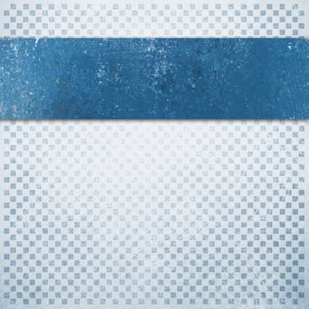 faint: abstract blue and white background with faint detailed checkerboard pattern of small squares in graphic design element, faded and distressed vintage texture, vintage blue ribbon or stripe layer