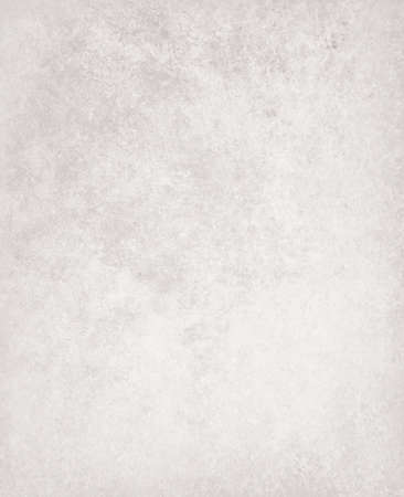 sponged: abstract white background, faded gray stain colors of faint sponged vintage grunge background texture, distressed rough white painted wall Stock Photo