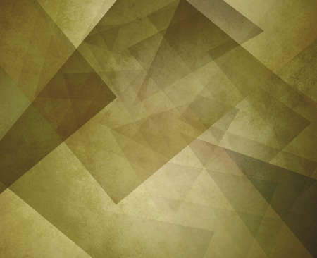 olive green: yellowed olive green background design, layers of diamonds triangles and squares in abstract contemporary art design