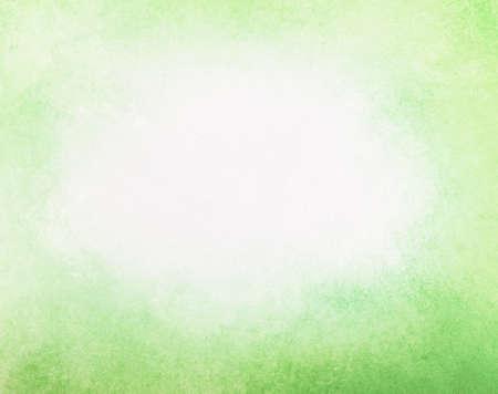 textura: abstracta desvaneció primavera fondo verde, blanco gradiente en el color verde amarillo claro, niebla centro blanco y oscuro grunge textura frontera