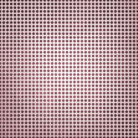 polka dotted: polca de la vendimia de Borgo�a punteada fondo rojo, manchas de color burdeos sobre papel blanco con centro blanco iluminaci�n del punto d�bil Foto de archivo