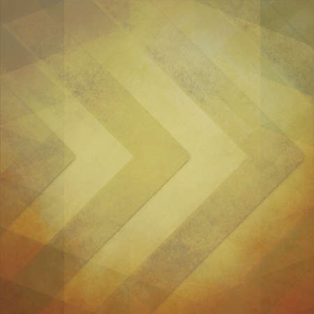 yellowed: faded vintage background in yellowed brown colors with large chevron stripe pattern with faint overlay of angled low poly shapes Stock Photo