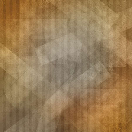 abstract brown orange and gold layered circles and square rectangle stripe shaped pattern on orange background with faded white texture photo