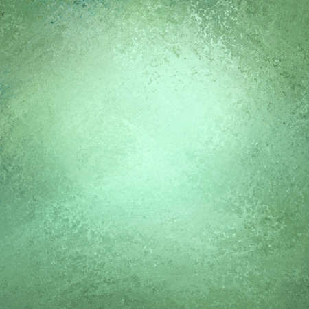 green background wall, distressed rough vintage texture and bright center light