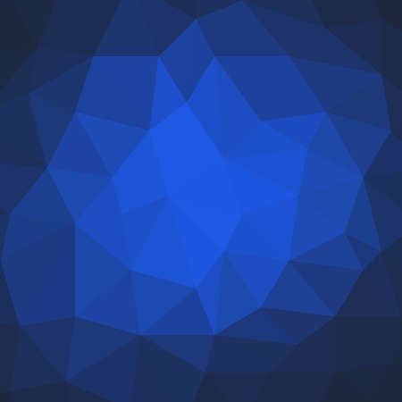 facets: blue background design, triangle shapes in mosaic pattern of diamond facets, low poly triangular style background design texture Stock Photo