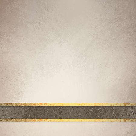 ecru: elegant brown background with dark brown ribbon and gold ribbon trim