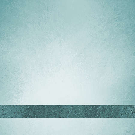 sponged: pastel sky blue background with teal blue ribbon footer with room for typography or text, has vintage grunge background texture