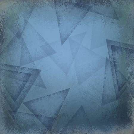 forme: fond bleu avec des formes de triangles abstraites