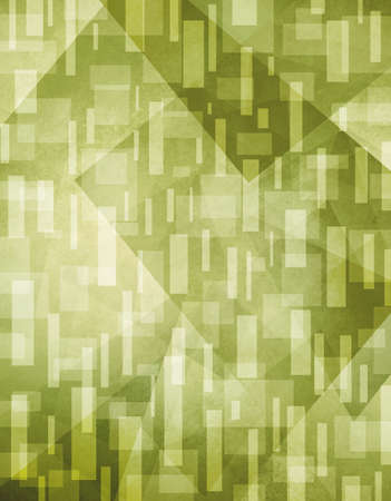 abstract background. Green background with white rectangle shapes layered in random pattern.