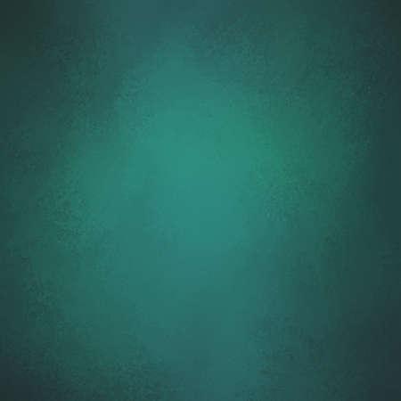 black shadow: elegant teal blue green background color. Textured vintage blue background with black vignette shadow border. Stock Photo