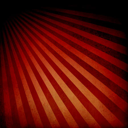 red orange background retro striped layout with dramatic black border, sunburst abstract background texture pattern, vintage background sunrise design, nostalgic retro design