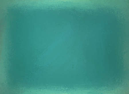 solid color: shiny blue green background with distressed worn texture and grunge border