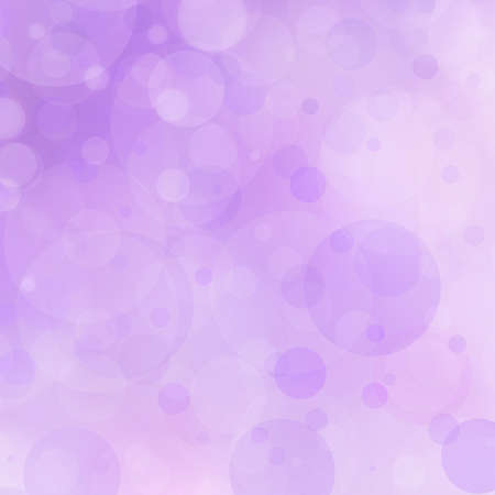 purple background bokeh lights circle bubble shape white lights design on pastel purple color Archivio Fotografico