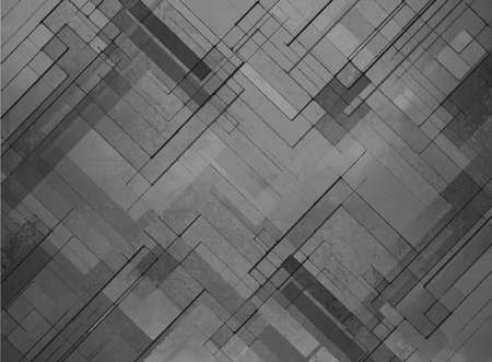abstract black background faded gray geometric pattern of angles and lines, diagonal design elements, textured background Stock Photo