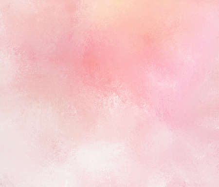 abstract pink background with faded white grunge brush strokes. Rough distressed texture on pale pink background with yellowed color tone. Stockfoto