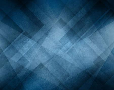 Sfondo blu di colore con disegno astratto triangolo geometrico Archivio Fotografico
