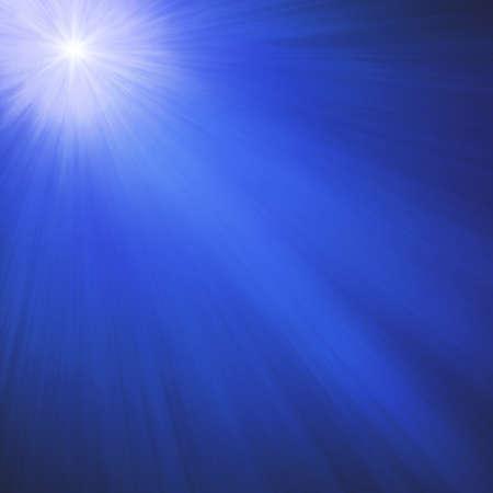 밝은 스파클링 또는 빛나는 스타, 한밤중 파란색 배경 각도에 빛나는 화이트 크리스마스 스타와 함께 하늘