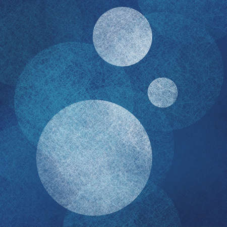 fade: abstract modern background blue color with white parchment balls floating in random bokeh pattern